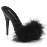 Černý 13 cm POISE-501F peří marabu Vysoké Podpatku