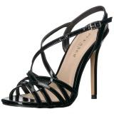 Černý 13 cm Pleaser AMUSE-13 sandály na vysokém podpatku