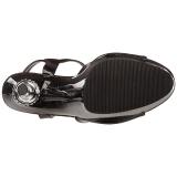 Černý 14 cm ALLURE-609 Stilettos Jehlové Podpatky
