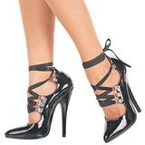 Černý 15 cm DOMINA-456 dámské boty na vysokém podpatku