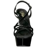 Černý 15 cm Pleaser DELIGHT-613 Sandály na vysokém podpatku
