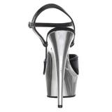 Černý 15 cm Pleaser KISS-209 Chrom Platformě Vysoké Podpatky