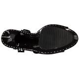 Černý 15 cm Pleaser KISS-209LS Vysoké Podpatky Platformě