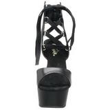 Černý 16 cm Pleaser DELIGHT-600-14 Vysoké Podpatky Platformě