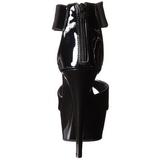 Černý 16 cm Pleaser DELIGHT-670-3 Vysoké Podpatky Platformě