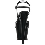 Černý 18 cm Pleaser MOON-709 Vysoké Podpatky Platformě