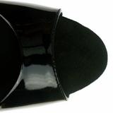 Černý 23 cm Pleaser INFINITY-912SP Vysoké Podpatky Platformě