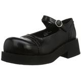 Černý 5 cm CRUX-07 platformě gotické boty