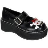 Černý 5 cm EMILY-221 platformě gotické boty