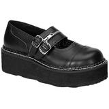 Černý 5 cm EMILY-306 platformě gotické boty