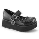 Černý 6 cm DEMONIA SPRITE-05 platformě gothic boty