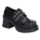 Černý 7 cm TRUMP-101 platformě gotické boty