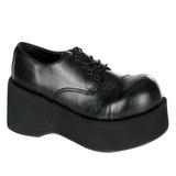 Černý 8,5 cm DANK-101 platformě gothic boty