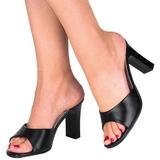 Černý 8,5 cm Fabulicious ROMANCE-301-2 Pantofle Vysoké Podpatky