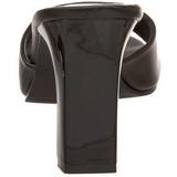 Černý 8,5 cm ROMANCE-301-2 Pantofličky na Podpatku pro Muže