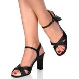 Černý 8,5 cm ROMANCE-313 Dámské Sandály Podpatky
