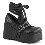 Černý 9 cm DEMONIA SCENE-20 platformě gotické boty