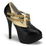 Černý Bezový 14,5 cm Burlesque TEEZE-24 dámské boty na vysokém podpatku
