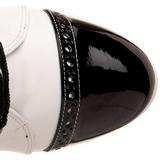 Černý Bílá 10,5 cm EXOTICA-1050 Kotníkové Kozačky s platformě na podpatku
