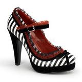 Černý Bílá 11,5 cm BETTIE-18 dámské boty na vysokém podpatku
