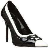 Černý Bílá 11,5 cm MILAN-09 dámské boty na vysokém podpatku