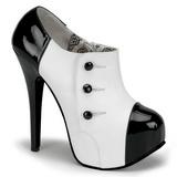 Černý Bílá 14,5 cm TEEZE-20 dámské boty na vysokém podpatku