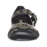 Černý Demonia DAISY-09 Balerínky Boty Ploché Podpatku