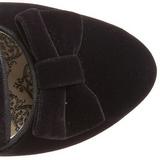 Černý Kotníkové Kozačky 6,5 cm BORDELLO WHIMSEY-115