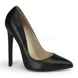 Černý Kůže 13 cm SEXY-20 Dámské Lodičky na podpatků