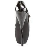 Černý Lak 18 cm BALLET-08 Fetish Lodičky Dámské
