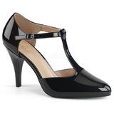 Černý Lakovaná 10 cm DREAM-425 velké velikosti lodičky obuv