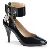 Černý Lakovaná 10 cm DREAM-432 velké velikosti lodičky obuv