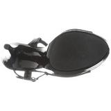 Černý Lakovaná 13 cm COCKTAIL-509 Platformě Sandály Podpatky