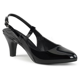 Černý Lakovaná 7,5 cm DIVINE-418 velké velikosti lodičky obuv