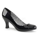 Černý Lakovaná 7,5 cm JENNA-01 velké velikosti lodičky obuv