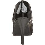 Černý Lakované 10 cm DREAM-420 Vysoké lodičky na podpatky