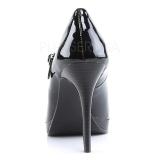Černý Lakované 11 cm BLISS-31 Lodičky Dámské Stiletto Podpatků