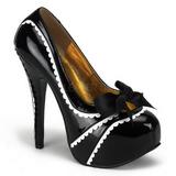 Černý Lakované 14,5 cm Burlesque TEEZE-14 dámské boty na vysokém podpatku