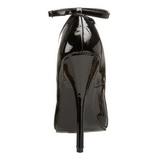 Černý Lakované 15 cm DOMINA-431 Lodičky pro muže