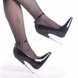 Černý Lakované 15 cm SCREAM-12 Lodičky Dámské Stiletto Podpatků