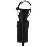 Černý Lesk 20 cm Pleaser FLAMINGO-809-2G Vysoké Podpatky Platformě