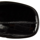 Černý Lesklý 8 cm GOGO-3000 overknee kozačky dámské