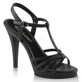 Černý Matná 12 cm FLAIR-420 sandály vysoký podpatek