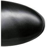 Černý Matná 13 cm ELECTRA-3050 Vysoké Kozačky Nad Kolena