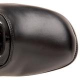 Černý Matná 5 cm RETRO-302 Dámské Kozačky s Tkaničkami