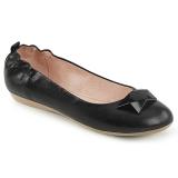 Černý OLIVE-08 balerínky ploché dámské boty