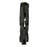 Černý Platformě Kotníkové Kozačky 13 cm Pleaser ELECTRA-1020