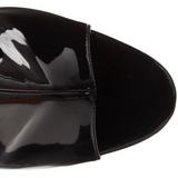 Černý Platformě Kotníkové Kozačky 16,5 cm Pleaser ILLUSION-1018