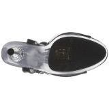 Černý Průhledný 14 cm ALLURE-609 Stilettos Jehlové Podpatky