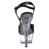 Černý Průhledný 15 cm Pleaser KISS-209 Vysoké Podpatky Platformě